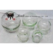 Chinese medicine fire glass cupping cup apparatus for health life