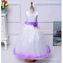 Elegant 2017 cheap price summer flower girl dress colorful bow ball gown girl party wear western dress