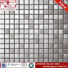 Fornecimento de fábrica foshan preço de telha de mosaico quadrado de aço inoxidável