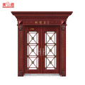 Professional steel big gate with roman pillars column molds for sale