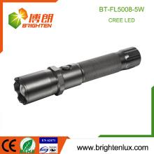Fábrica de suministro de mano de alta calidad portátil de caza táctica poderosa viga Zoom 5watt mejor cree u3 llevó linterna