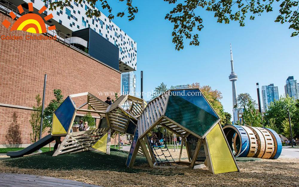outdoor playground structure for children