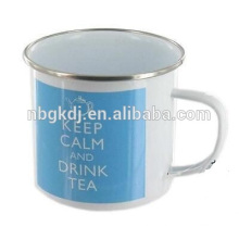bule color 450ml enamel mug for tea / milk / water