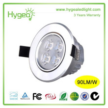 Energy saving Downlight Dissipate heat LED Spot light High Power 7W LED Ceiling lamp 3years warranty