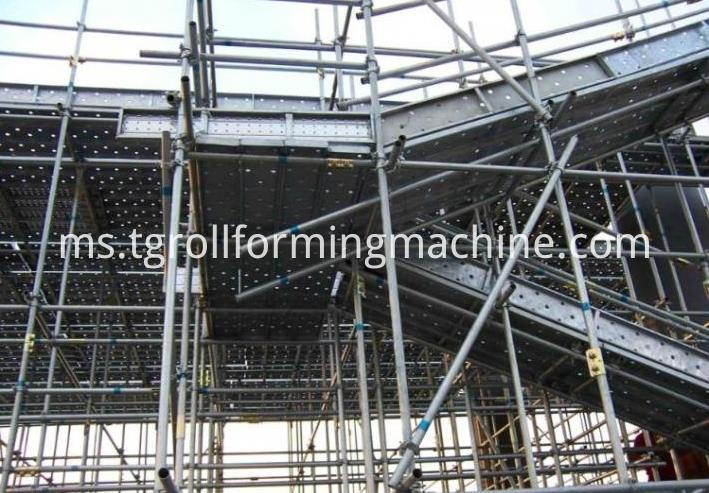 Steel Walk Board Scaffolding Roll Forming Machine Line