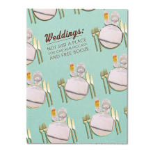 El cuchillo y la bifurcación de los cubiertos le agradecen las tarjetas Tarjeta de invitación de boda lujosa por mayor