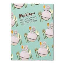 Couteau à coutellerie et fourchette cartes de remerciement en gros carte d'invitation de mariage de luxe