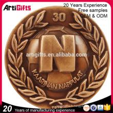 Métal design personnalisé estampage souvenir antiquité golden copy india vieille monnaie à vendre