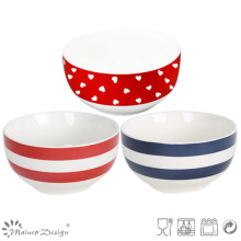 13,5 cm Heart Design New Bone China Rice Bowl