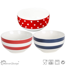 13.5cm Heart Design New Bone China Rice Bowl
