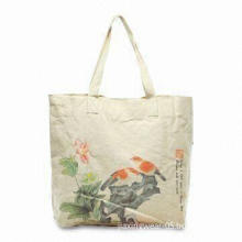 Canvas Folding Shopping Bag for Advertisement/Gifts, Various Styles and Colors are Available