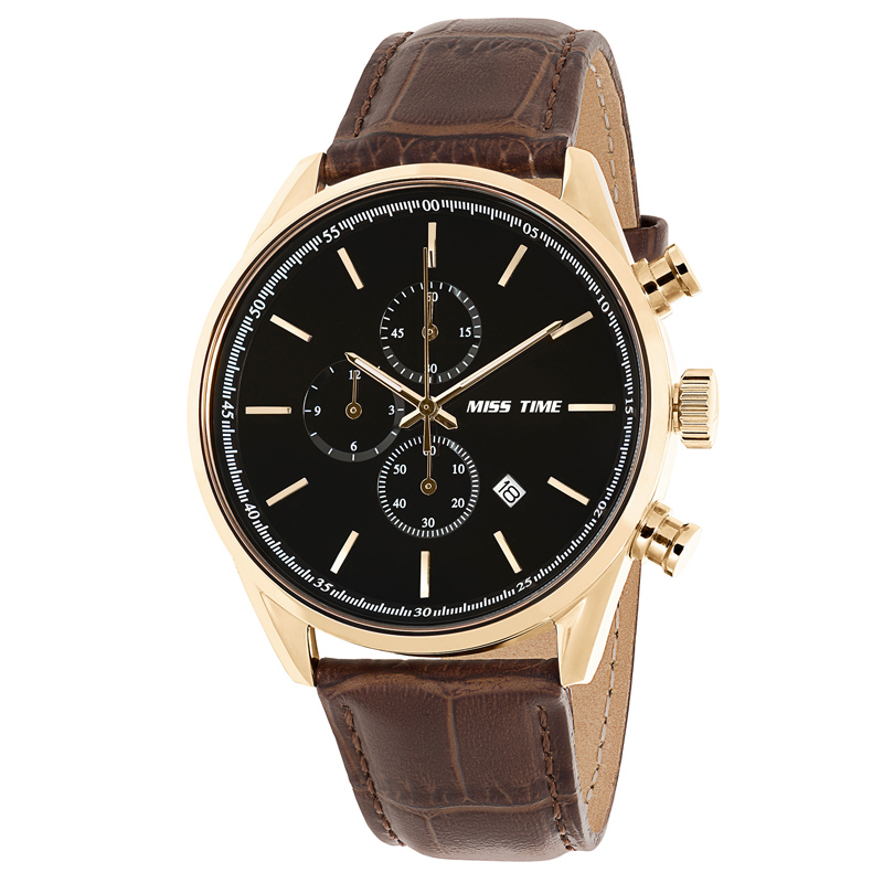 custom manufacturing process leather mens steel watch