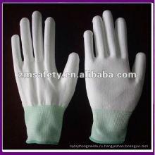 Белый ОУР PU ладони подходят перчатки нейлона ZMR469