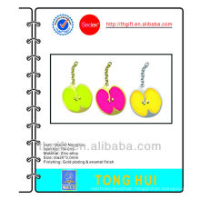 3D Gold apple charm mobile phone straps/ropes