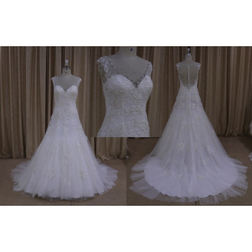 Bling Wedding Dress with Silver Beading