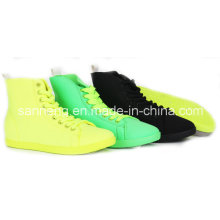 PVC Injection High-Cut Shoes New Bright Color for Girl/Women (SNC-49009)