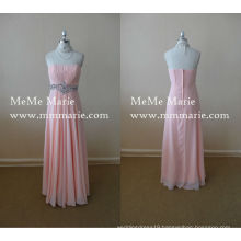 Best Price Dress Sleeveless Prom Gown Ankle Length Bridesmaid Dress with Rhinestones BYE-14048