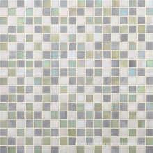 15mm quadratisches weißes Glas Mosaik für Badezimmer