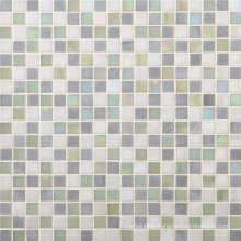 15mm Square White Glass Mosaic for Bathroom