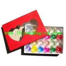 Caja de papel de regalo de embalaje de mármoles de alta calidad con ventana de plástico y PVC / Mascota