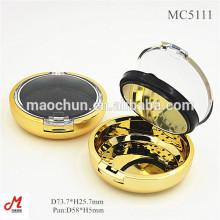 MC5111 Ouro prensado fundo maquiagem fundação em pó caso