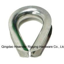 Rigging Hardware galvanizado guardacabo de DIN6899A/DIN6899b E.