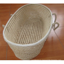 (BC-BA1001) Hot-Sell Handmade Straw Sleeping Baby Basket