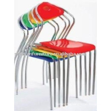 2011 modern plastic stacking chrome chair