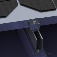 Système solaire de 1mw de kit solaire de mini rail de toit en métal