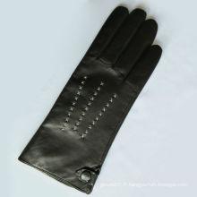 Gants de moto populaires de haute qualité, gants de moto noir