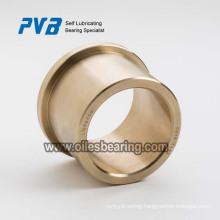 Turned bronze flange bearings with lubrication grooves,Rolled bronze with flange