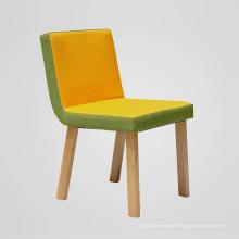 Красочные ткани деревянные обеденные стулья с новой конструкцией
