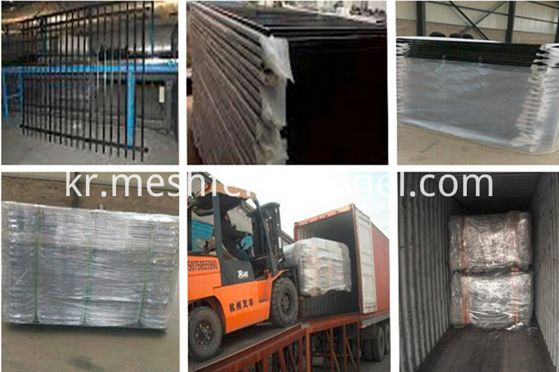 palisade fence packaging&shipping