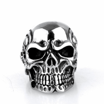 Retro domineering punk ghost head skull rings