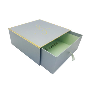 drawer gift packaging box with lint