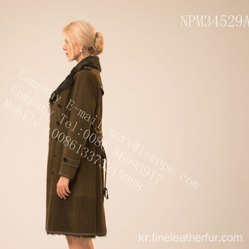 가역 호주 Merino Women Shearling Coat