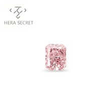 ForeverFlame fancy pink Radiant Cut VVS1 1.2ct diamond CVD CZ Moissanite vivid pink