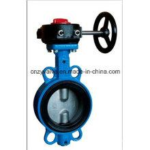 Чугунный или стальной резиновый уплотнительный клапан-бабочка для морской воды или масла