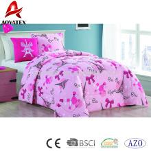 3 pc pigmento impressão barato preço de cama de luxo consolador conjuntos de correspondência com decoração travesseiro