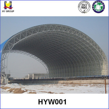 Prefabricated metal steel space frame roofing