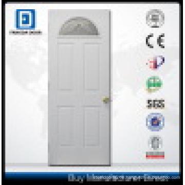 Fan Lite Prehung Stahl Eingangstür mit gehärtetem Sicherheitsglas