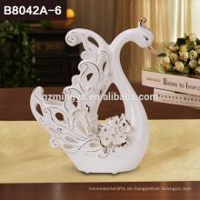 Clásico pary favor boda decoración muebles accesorios cerámica no moq cisnes amantes artesanías