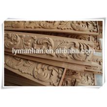 tallado a mano marco de la puerta de madera talla de madera
