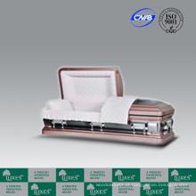 Alta qualidade estilo americano 18ga caixão de Metal Coffin_Luxes