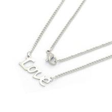Amostra grátis moda em aço inoxidável letras alfabeto pingente alphbet carta colar