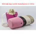 Custom EVA Rubber Beach Bag med PU handtag