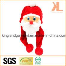 Qualität Weihnachtsfest Dekoration Red Santa Hat mit Pompom