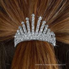 Мода металлический посеребренный кристалл тира лента для волос
