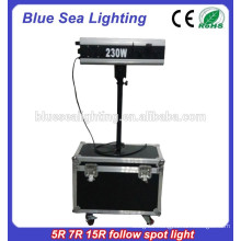 Hand operate 5R 200W wedding Theater follow Spot light