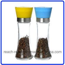 Glas-Salzstreuer-Pfeffer und Salzmühle Küche Mühle (R-6051)